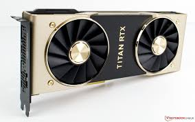 picture of an nvidia titan r t x pci express graphics card